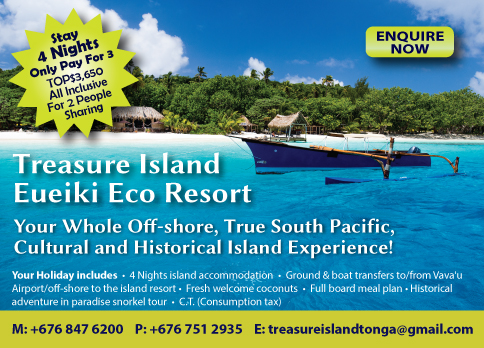 treasure Island Tonga hot deals