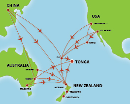 Flight path into Tonga